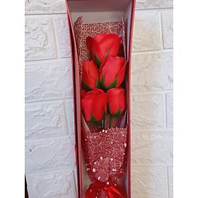 Bó hồng sáp  màu đỏ quà tặng ý nghĩa ngày nhà giáo