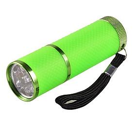 Mini Flash Light for LED UV Gel Curing Lamp Light Handheld Nail Dryer Nail Flashlight 9 LEDs 395nm UV Flashlights