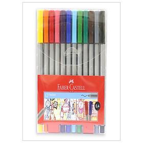 Bút dạ kim nắp kẹp 12 màu Faber 150712