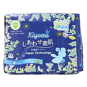 Băng Vệ Sinh Ban Đêm Nhật Bản Kiyomi (Gói 4 Miếng)