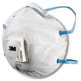 Một hộp khẩu trang lọc bụi bảo vệ hô hấp 3M 8822, P2, có van thở (10 chiếc)