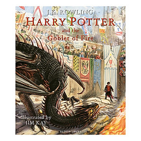 Harry Potter and the Goblet of Fire: Illustrated Edition (Hardback) (English Book)
