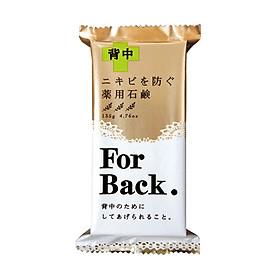 Xà phòng Giảm mụn ưng For Back Pelican 135g Nhật Bản + Băng hỗ trợ làm lành vết thương (Miếng dán mụn) SOMADERM-THIN (12 pcs)