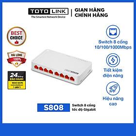 Bộ Chia Mạng 8 Cổng 100mbps Totolink S808 – Hàng Chính Hãng
