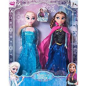 Bộ đồ chơi 2 búp bê Elsa và Anna kích thước lớn cao 48cm