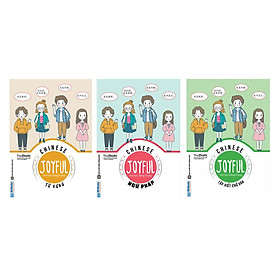 Combo Bộ Sách Vui Học Tiếng Trung Cực Hay: Joyful Chinese - Vui Học Tiếng Trung (Từ Vựng, Ngữ Pháp Và Tập Viết)