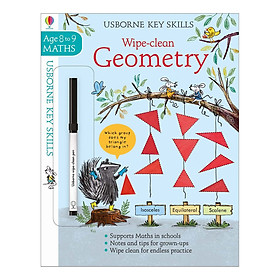 Usborne Key Skills Wipe-Clean: Wipe-Clean Geometry 8-9