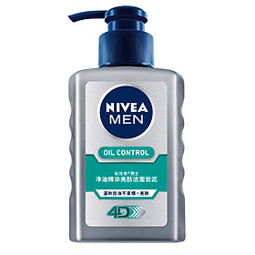 NIVEA Men's Net Oil Essence Brightening Cleansing Clay 150ml (Men's Cleanser Deep Cleansing Skin Care Cosmetics)