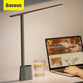 (Hàng chính hãng) Đèn LED Baseus để bàn bảo vệ mắt với ánh sáng thông minh thích ứng độ sáng đèn ngủ và làm việc