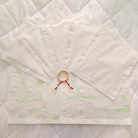 Combo 03 bịch giấy lót phân su cho bé - Tặng kèm 01 vòng dâu tằm cho bé