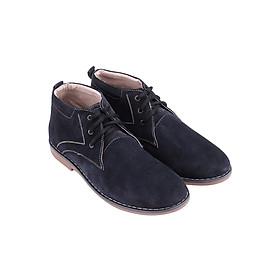 Giày Boot Da Lộn Nam Huy Hoàng HT7192 - Xanh Đậm