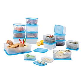 Bộ 16 Hộp Bảo Quản Thực Phẩm Ngăn Đông Tupperware Freezermate