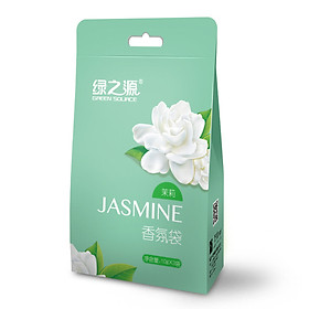 Green source jasmine fragrance bag wardrobe aromatherapy fragrance indoor essential oil sachet in addition to flavor sachet (10g * 6 bags)