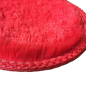 Love Heart Shaped Rug Artificial Wool Sheepskin Hairy Carpet Faux Floor Mat