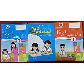 Vở ô li có mẫu chữ lớp 1 quyển 1, quyển 2, tập tô tập viết chữ số và học toán ( bộ 3 cuốn)