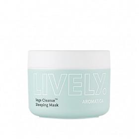 Mặt nạ ngủ chiết xuất rau củ giúp thải độc, dưỡng ẩm da AROMATICA Lively Vege Cleanse Sleeping Mask