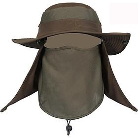 Mũ kèm khẩu trang chống nắng rộng vành giao màu ngẫu nhiên