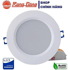 Đèn LED âm trần 9W Rạng Đông, khoét lỗ 110mm, vỏ nhựa