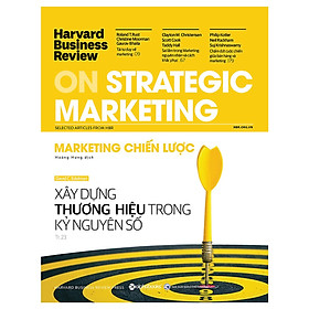 HBR On Strategic Marketing - Marketing Chiến Lược Tặng BookMark Romantic