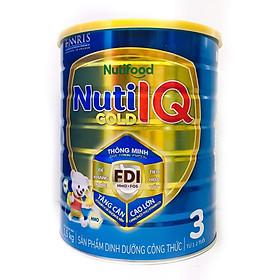 Sữa Nuti IQ Gold 3 1.5kg (mới) - Phát triển não bộ và thị giác, Tăng cường sức đề kháng, Phát triển cân nặng - chiều cao, Tiêu hoá - hấp thu tốt, Ngăn ngừa táo bón