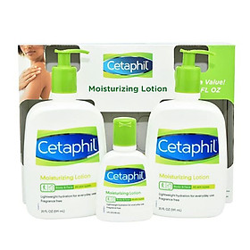 Set 3 chai sữa dưỡng thể Cetaphil Moisturizing Lotion