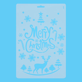 Thước Vẽ Hoạ Tiết Thủ Công Merry Christmas