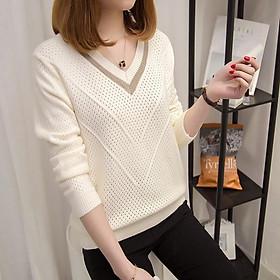 áo len nữ đẹp cổ V