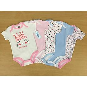 Quần áo mùa hè cho bé sơ sinh, set 5 body cộc cho bé
