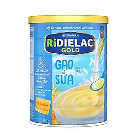 BỘT ĂN DẶM RIDIELAC GOLD GẠO SỮA - HỘP THIẾC 350G