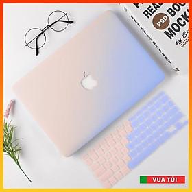 Combo Case, ốp kèm phủ phím Macbook đủ dòng Màu Ombre - Nhựa ABS cao cấp chống va chạm