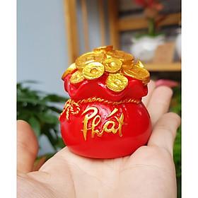 Túi vàng đỏ chữ PHÁT thuần Việt - Túi vàng Phát Tài