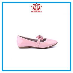 Giày Búp Bê Bé Gái Đi Học Đi Chơi Crown Space UK Ballerina Trẻ Em Cao Cấp CRUK3122 Màu Hồng Be Đen Êm thoáng Size 30-36/6-14 Tuổi