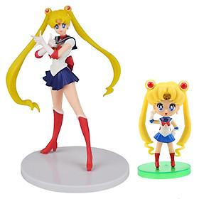 Bộ 02 mô hình thủy thủ mặt trăng - Sailor Moon (Xanh đậm)