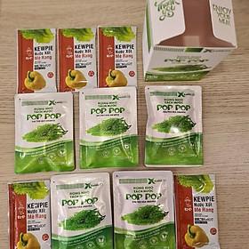 Combo Rong nho POP POP 100 gr Hộp (05 gói * 20 gr) & 05 gói xốt mè rang 15ml