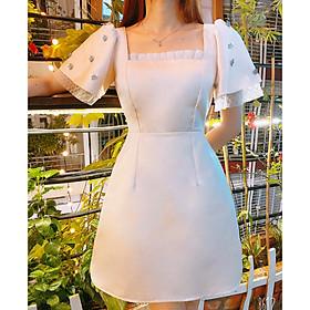 Đầm kem dự tiệc CAO CẤP SANG TRỌNG lót cotton mềm mịn thoáng mát