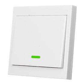 Nút nhấn công tắc điều khiển đèn từ xa dán tường không dây phát sóng RF 433MHz.Loại 1, 2, 3 phím bấm màu trắng.