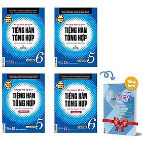 Combo 4 Cuốn Tiếng Hàn Tổng Hợp Dành Cho Người Việt Nam - Cao Cấp 5&6 - Phiên Bản Mới Đen Trắng (Tặng Kèm Cuốn Vui Học Tiếng Hàn Cùng Châu Thùy Trang)