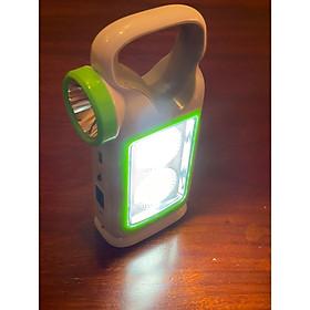Đèn pin sạc xách tay 3 in 1 (đèn pin, đèn dự phòng cúp điện, sạc khẩn cấp cho điện thoại), có thể sạc bằng điện hoặc sạc bằng năng lượng mặt trời