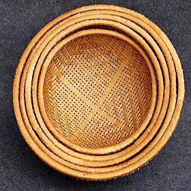Rổ tre tròn đan thưa