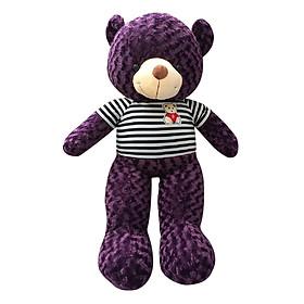 Gấu Bông Teddy Khổ Vải Ichigo Shop (1m) - Tím Than