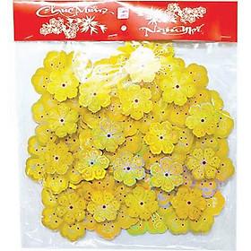 Set hình dán hoa mai vàng chào xuân 3D trang trí tết