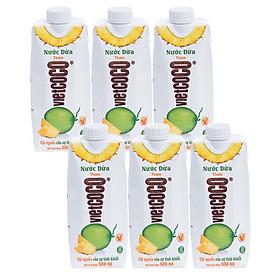 Combo 6 Hộp Nước dừa - thơm Vietcoco hộp 500ml
