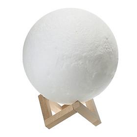 Đèn Ngủ LED Hình Mặt Trăng 3D Điều Khiển Từ Xa Với Giá Đỡ Bằng Gỗ (16 Màu)