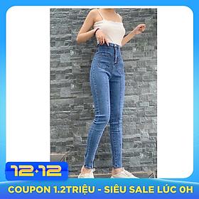 Quần jean nữ lưng cao Julido, chất jean cotton co dãn tôn dáng phụ nữ eo thon mẫu QQS01