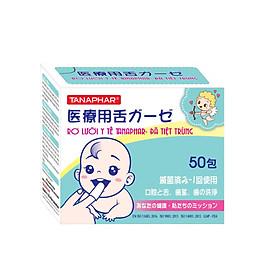 Rơ lưỡi trẻ em y tế Tanaphar chất liệu mềm mại an toàn cho trẻ sơ sinh - Hộp 50 cái