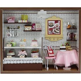 Nhà búp bê Ngôi nhà thu nhỏ lắp ghép Tiệm Bánh