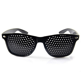Small Holes Pinhole Glasses Anti-fatigue Improved Vision Eye Exercise Correction Glasses Black