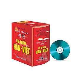 Từ điển Hàn - Việt  (Bìa ngẫu nhiên cam/đỏ) + Tặng Bộ tài liệu giúp học tiếng Hàn từ con số 0