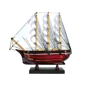 Hình đại diện sản phẩm Mô hình thuyền gỗ trang trí Le Belem - thân 25cm