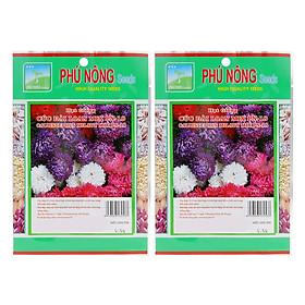 Bộ 2 Gói Hạt Giống Hoa Cúc Đài Loan Mix PN-18 Phú Nông (Trên 100 Hạt / Gói)